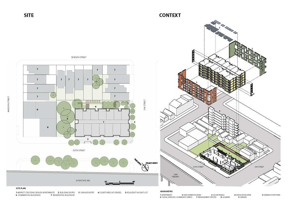 Merritt crossing senior apts aia top ten for Site plan design