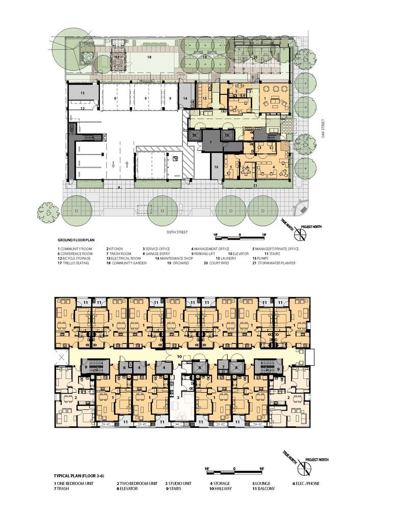 Elderly housing floor plan