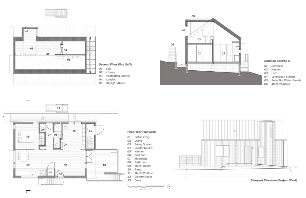 Plan Vs Elevation And Section : Simple house design with plan elevation and section joy