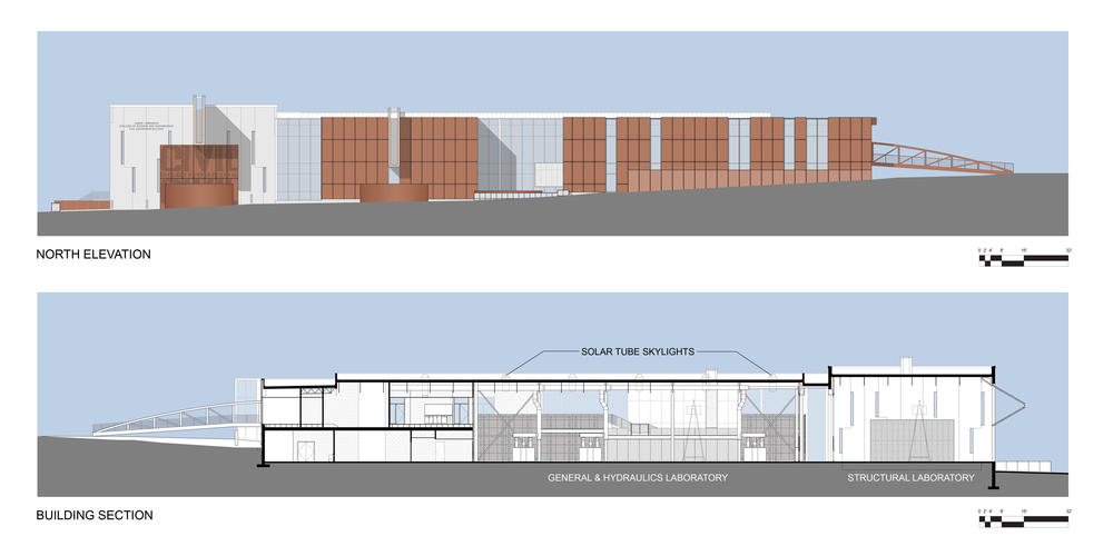 Civil Engineering Plan Elevation Section : Swenson civil engineering building aia top ten