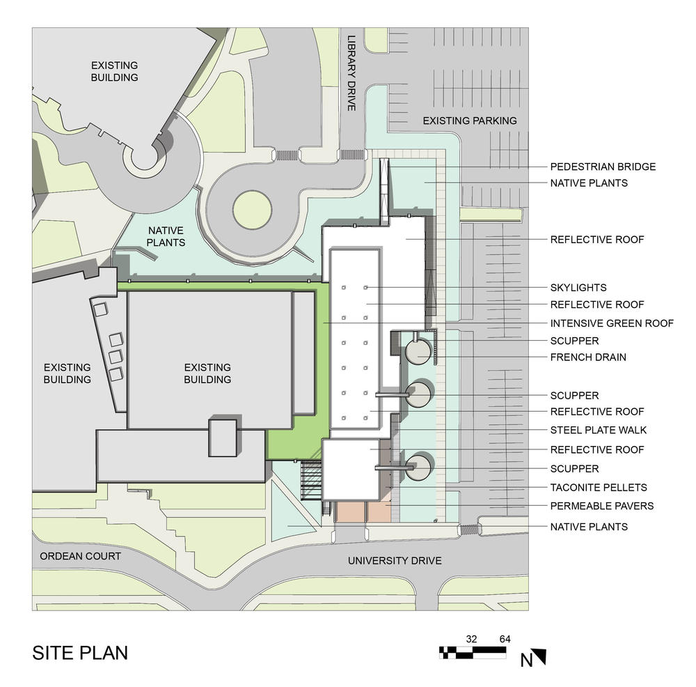 Swenson civil engineering building aia top ten for Building site plan